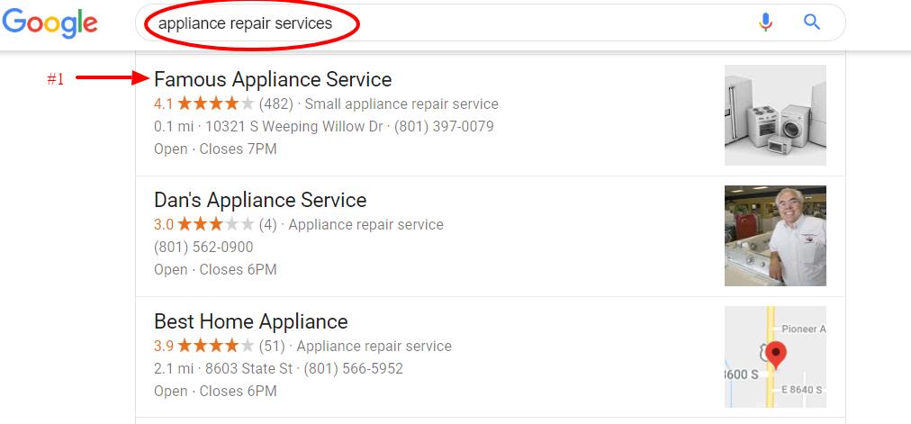 appliance repair ranking