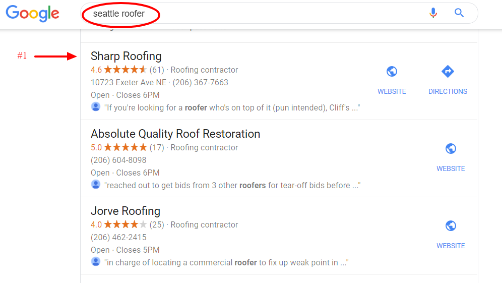 seattle roofer ranking